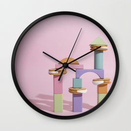 Fluffernutter tower Wall Clock