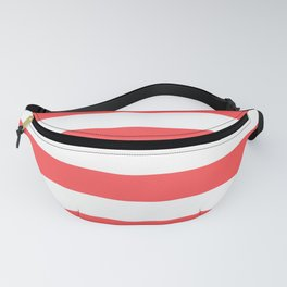 Coral Stripes Fanny Pack