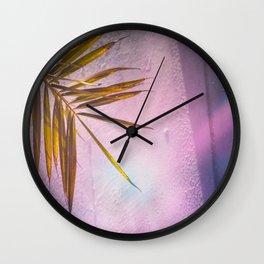 PinkPalm Wall Clock