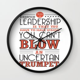 You Have To Have Vision Leadership Inspirational Success Quote Design Wall Clock