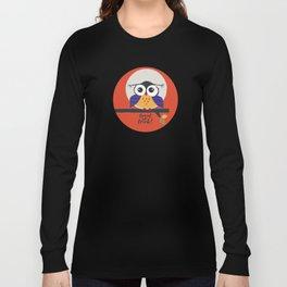 big eyed halloween owl Long Sleeve T-shirt