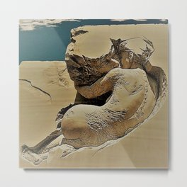 Photograph of Pascale Archambault's Haunting Sculpture Symbiosis Metal Print
