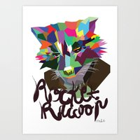 rocket raccoon Art Prints featuring Rocket Raccoon by Mary HB Nguyen