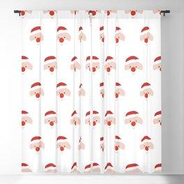 Find the hidden Santa (Patterns Please) Blackout Curtain