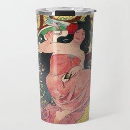 Alphonse Mucha Job Rolling Papers Art Nouveau Woman Travel Mug