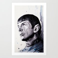 Goodbye Mr. Spock - Leonard Nimoy Art Print