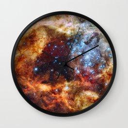 Grand star-forming region R136 in Tarantula Nebula  (NASA/ESA/Hubble) Wall Clock