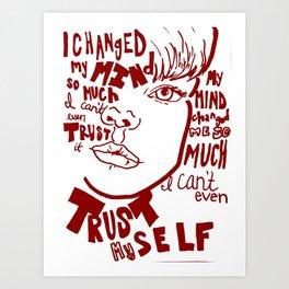 Modest Mouse lyrics Art Print
