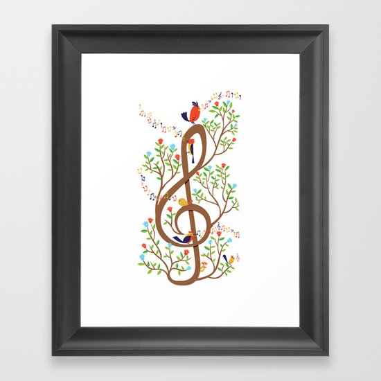 Song birds Framed Art Print