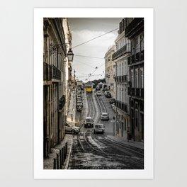 Lisbon street Art Print