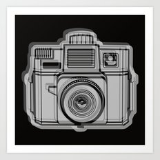 I Still Shoot Film Holga Logo - Black Art Print