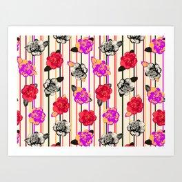 Gothic Camellias Art Print