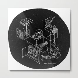 Grazing in the Space Metal Print