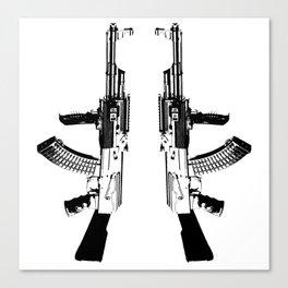 BLACK AK 47 Canvas Print