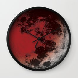 Red Moon Eclipse Wall Clock