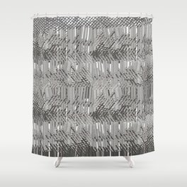 Gray abstract background Shower Curtain