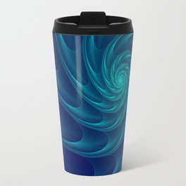 Aqua Blue Nautilus Sea Shell Travel Mug