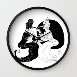 Black and White Coffee Wall Clock