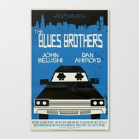 blues brothers Canvas Prints featuring The Blues Brothers by Mark Welser
