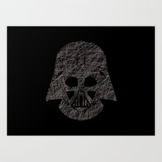 Lines of Vader Art Print