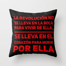 La Revolución Throw Pillow