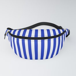 Cobalt Blue and White Vertical Deck Chair Stripe Fanny Pack