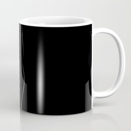 Minimal line drawing of a nude woman - black and white Coffee Mug