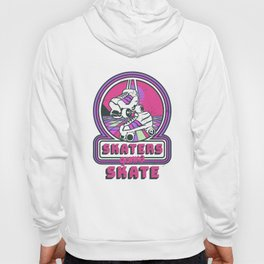 Retro Skaters Gonna Skate - Skating 80s Disco Roller Skater Hoody