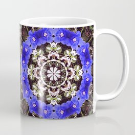 Blue and white floral mandala - Evolvulus and Diamond frost flowers 1 Coffee Mug