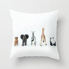 ANIMALS BACKS Throw Pillow