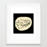 crocodile Framed Art Prints featuring Crocodile by Mr. JJ