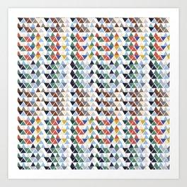 Fun triangles Art Print