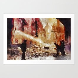 The Blitz, WWII Art Print