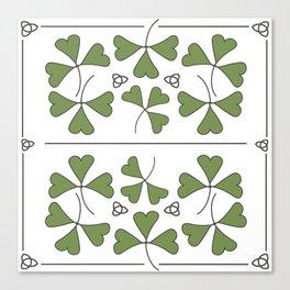 Shamrocks & Trinity Knots Canvas Print