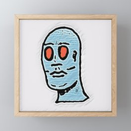 Bleu Faced Framed Mini Art Print