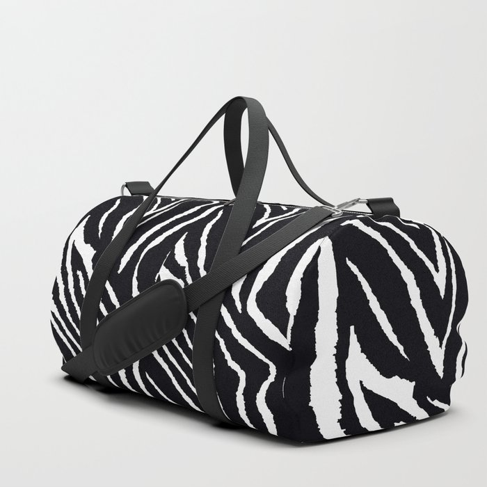 ZEBRA AND PINK FLOWERS and DRAGONFLIES Duffle Bag