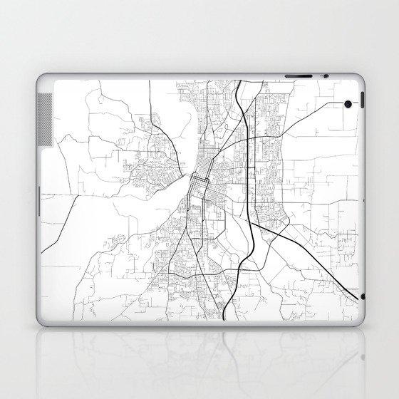 Minimal City Maps - Map Of Salem, Oregon, United States Laptop & iPad Skin