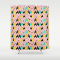 knit Shower Curtains featuring ASTRO KNIT by Mooneri