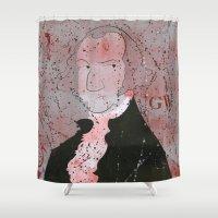 washington Shower Curtains featuring Washington by Doren Chapman