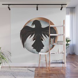 Rose Gold Raven Eclipse Wall Mural