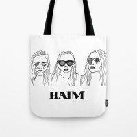 haim Tote Bags featuring Haim by ☿ cactei ☿
