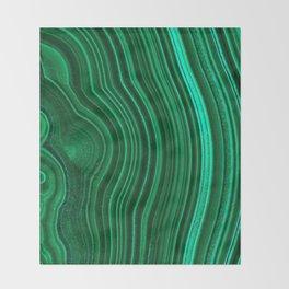 Malachite no. 2 Throw Blanket