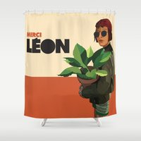 leon Shower Curtains featuring Mathilda, Leon the Professional by Natalié Art&Living