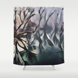 Twisted Wood Shower Curtain