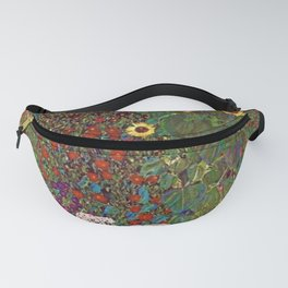 Country Garden with Sunflowers by Gustav Klimt Fanny Pack