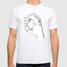 A Handy Map of The Bay SMALL Mens Fitted Tee Ash Grey