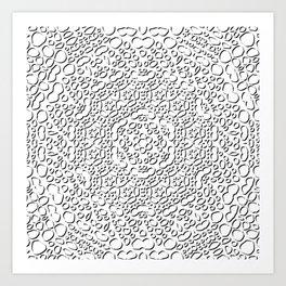 mandala curls Art Print