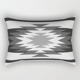 Aztec - black and white Rectangular Pillow