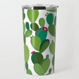 Cactus with flowers Travel Mug