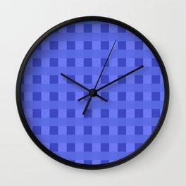 Retro Blue Squares Wall Clock